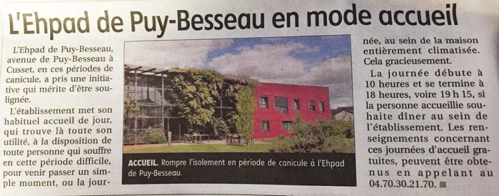 ehpad puy besseau article